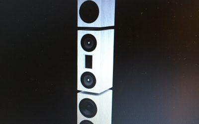 Vorschau – Teilaktiver Beton-Lautsprecher – modell DIVERSO