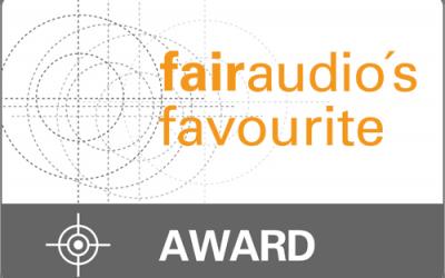 fairaudio favourite award 2018 für BETONart-audio SYNO