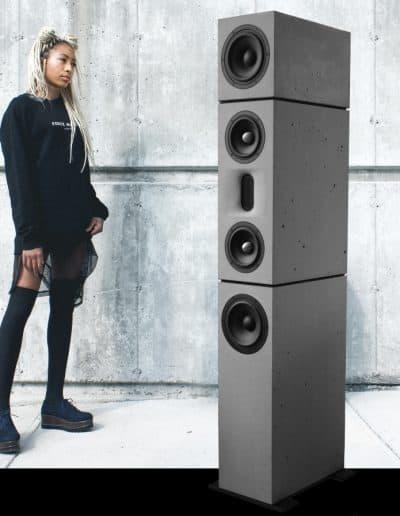 BETONart-audio concrete loudspeaker Betonlautsprecher Diverso