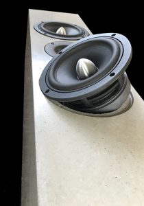 Loudspeaker manufactured from concrete