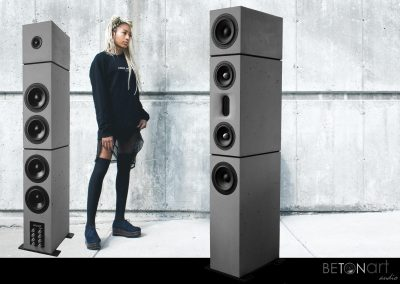 Betonlautsprecher DIVERSO von BETONart-audio