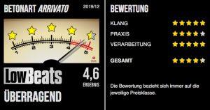 LowBeats-Bewertung-Betonart_Arrivato
