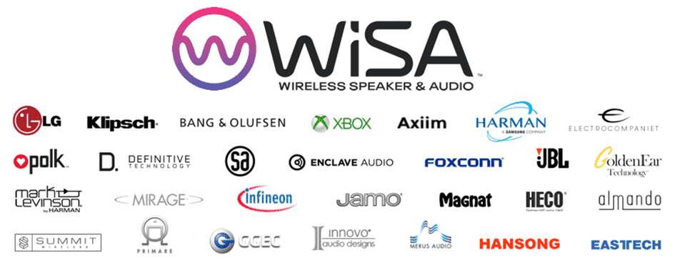 """Wireless in Hi-Res Qualität 24bit / 96khz (WiSA) für all unsere """"Aktiven"""" 3"""