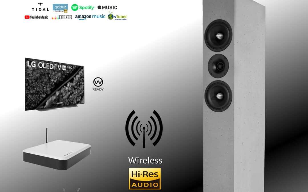 """Wireless in Hi-Res Qualität 24bit / 96khz (WiSA) für all unsere """"Aktiven"""""""
